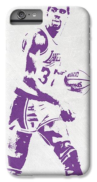 Magic Johnson iPhone 7 Plus Case - Magic Johnson Los Angeles Lakers Pixel Art by Joe Hamilton