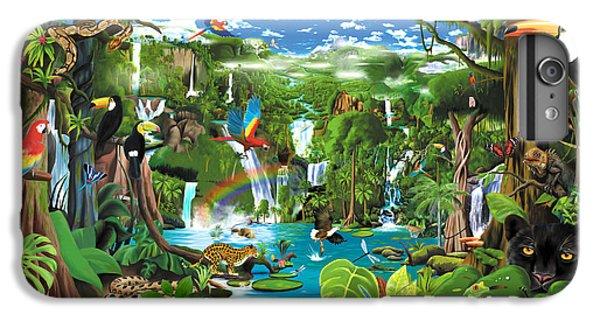 Toucan iPhone 7 Plus Case - Magnificent Rainforest by Gerald Newton