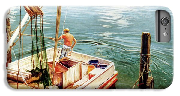 Shrimp Boats iPhone 7 Plus Case - Making Ready by Randy Welborn