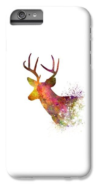 Deer iPhone 7 Plus Case - Male Deer 02 In Watercolor by Pablo Romero