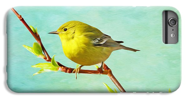 Male Pine Warbler On Forsythia Branch IPhone 7 Plus Case
