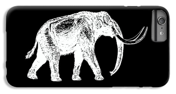 Dinosaur iPhone 7 Plus Case - Mammoth White Ink Tee by Edward Fielding