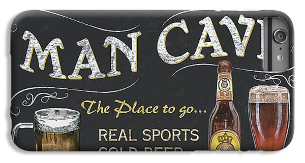 Cocktails iPhone 7 Plus Case - Man Cave Chalkboard Sign by Debbie DeWitt