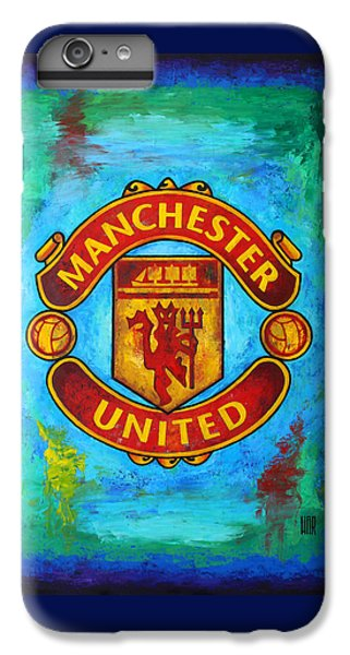 Soccer iPhone 7 Plus Case - Manchester United Vintage by Dan Haraga
