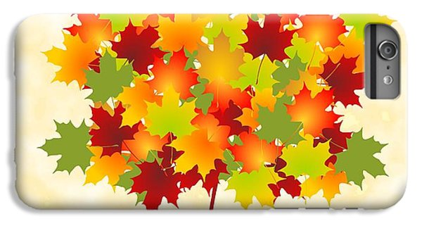 Red iPhone 7 Plus Case - Maple Leaves by Anastasiya Malakhova