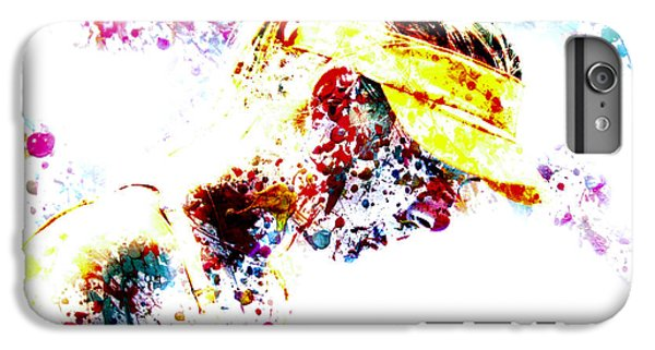 Maria Sharapova Paint Splatter 4p                 IPhone 7 Plus Case by Brian Reaves