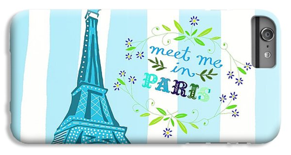 Meet Me In Paris IPhone 7 Plus Case by Priscilla Wolfe