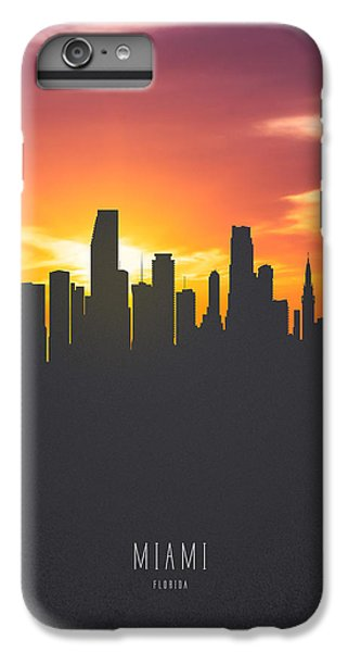 Miami Skyline iPhone 7 Plus Case - Miami Florida Sunset Skyline 01 by Aged Pixel
