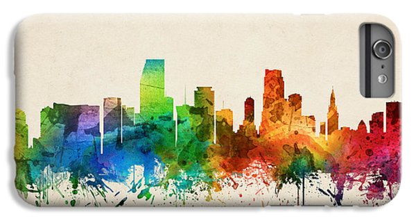 Miami Skyline iPhone 7 Plus Case - Miami Florida Skyline 05 by Aged Pixel
