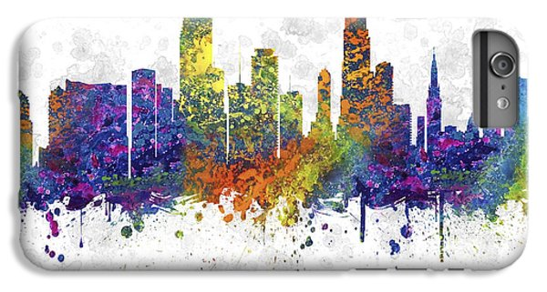 Miami Skyline iPhone 7 Plus Case - Miami Florida Skyline Color 03sq by Aged Pixel