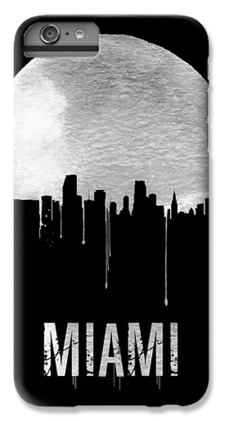 Miami Skyline iPhone 7 Plus Case - Miami Skyline Black by Naxart Studio