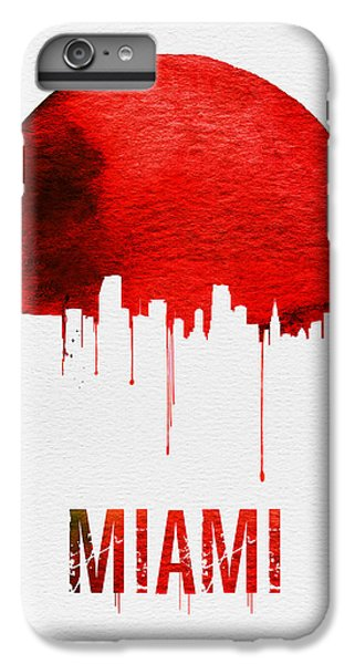 Miami Skyline iPhone 7 Plus Case - Miami Skyline Red by Naxart Studio