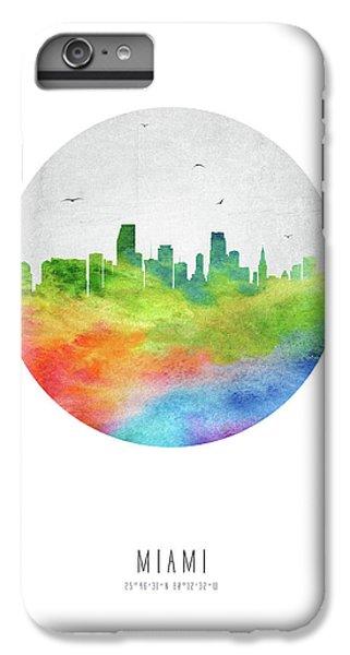 Miami Skyline iPhone 7 Plus Case - Miami Skyline Usflmi20 by Aged Pixel