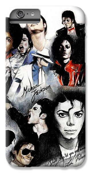 Michael Jackson iPhone 7 Plus Case - Michael Jackson - King Of Pop by Lin Petershagen