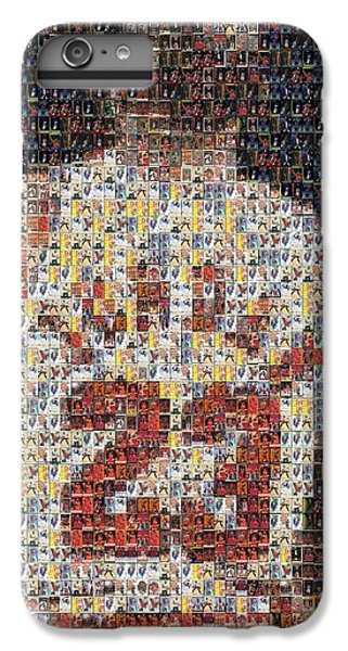Michael Jordan iPhone 7 Plus Case - Michael Jordan Card Mosaic 2 by Paul Van Scott