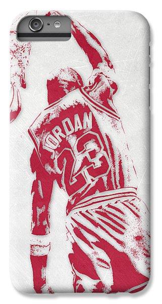 Michael Jordan iPhone 7 Plus Case - Michael Jordan Chicago Bulls Pixel Art 1 by Joe Hamilton