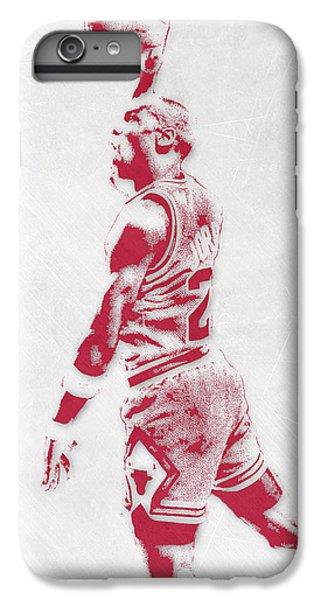 Michael Jordan iPhone 7 Plus Case - Michael Jordan Chicago Bulls Pixel Art 3 by Joe Hamilton