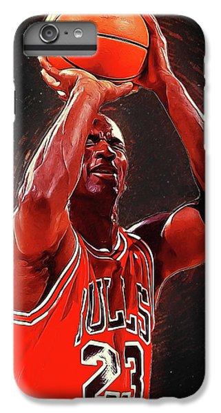 Larry Bird iPhone 7 Plus Case - Michael Jordan by Semih Yurdabak