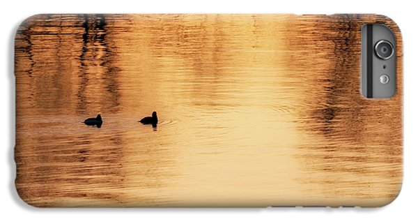 IPhone 7 Plus Case featuring the photograph Morning Ducks 2017 Square by Bill Wakeley