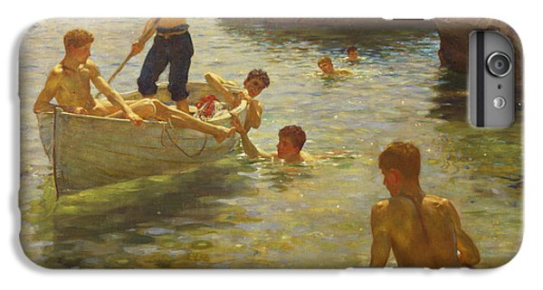 Boat iPhone 7 Plus Case - Morning Splendour by Henry Scott Tuke