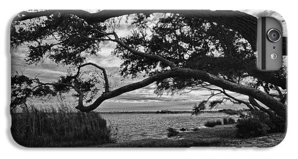 Shrimp Boats iPhone 7 Plus Case - Morning Sunrise In Bw by Michael Thomas