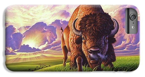 Buffalo iPhone 7 Plus Case - Morning Thunder by Jerry LoFaro
