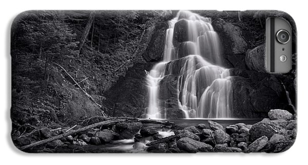 Landscapes iPhone 7 Plus Case - Moss Glen Falls - Monochrome by Stephen Stookey