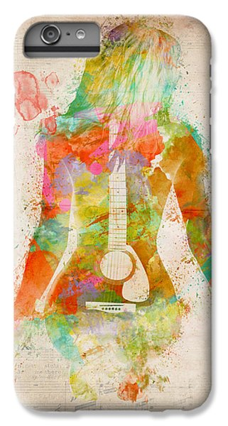 Guitar iPhone 7 Plus Case - Music Was My First Love by Nikki Marie Smith