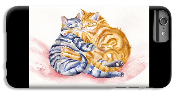 Cat iPhone 7 Plus Case - My Furry Valentine by Debra Hall