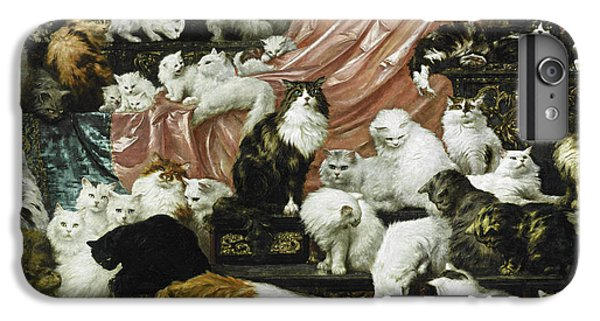 Peach iPhone 7 Plus Case - My Wife's Lovers by Carl Kahler