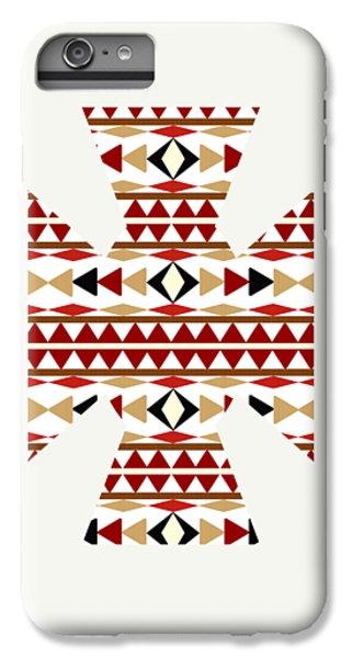 Navajo White Pattern Art IPhone 7 Plus Case by Christina Rollo