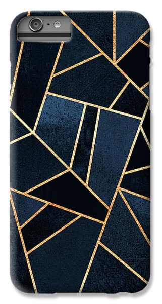 Blue iPhone 7 Plus Case - Navy Stone by Elisabeth Fredriksson