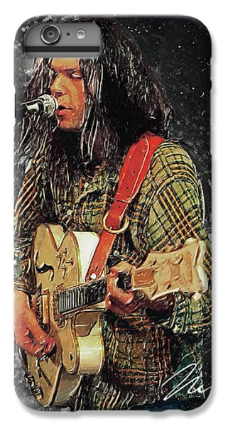Neil Young IPhone 7 Plus Case by Taylan Apukovska