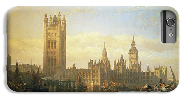 London iPhone 7 Plus Case - New Palace Of Westminster From The River Thames by David Roberts