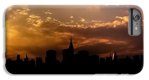 City Sunset iPhone 7 Plus Case - New York City Skyline At Sunset Panorama by Vivienne Gucwa