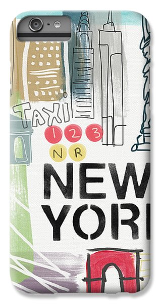 New York Cityscape- Art By Linda Woods IPhone 7 Plus Case by Linda Woods