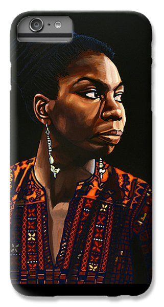 Broadway iPhone 7 Plus Case - Nina Simone Painting by Paul Meijering
