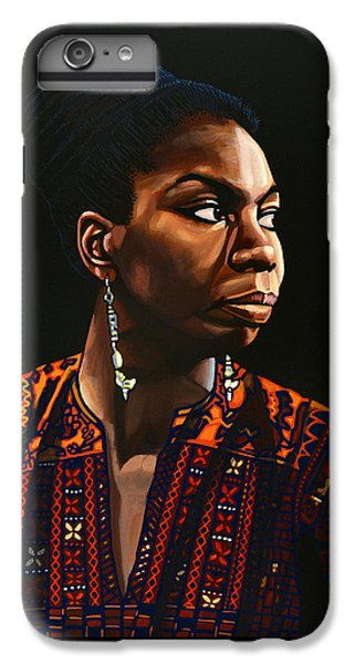 Rhythm And Blues iPhone 7 Plus Case - Nina Simone Painting by Paul Meijering