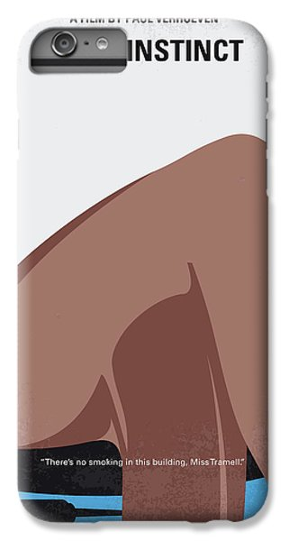 Beaver iPhone 7 Plus Case - No007 My Basic Instinct Minimal Movie Poster by Chungkong Art