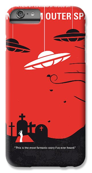 Space iPhone 7 Plus Case - No518 My Plan 9 From Outer Space Minimal Movie Poster by Chungkong Art