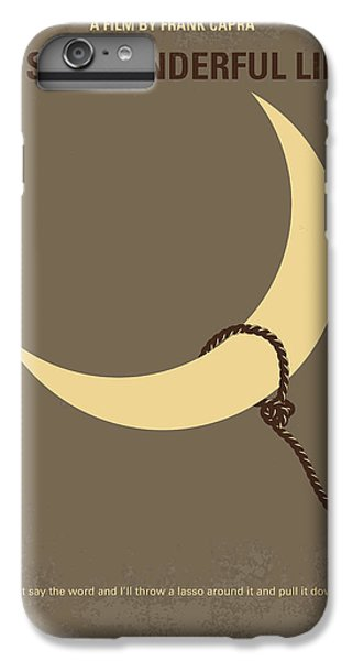 Moon iPhone 7 Plus Case - No700 My Its A Wonderful Life Minimal Movie Poster by Chungkong Art