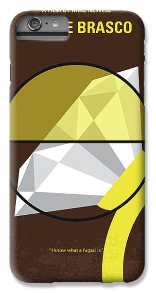 Johnny Depp iPhone 7 Plus Case - No766 My Donnie Brasco Minimal Movie Poster by Chungkong Art