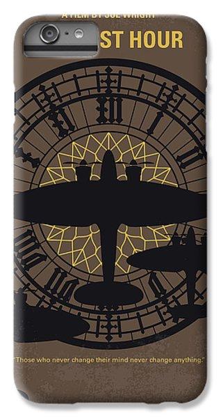 Big Ben iPhone 7 Plus Case - No901 My Darkest Hour Minimal Movie Poster by Chungkong Art