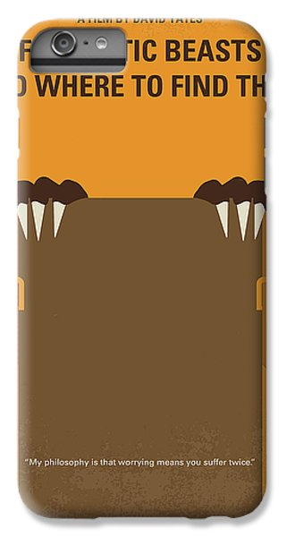 Newts iPhone 7 Plus Case - No962 My Fantastic Beasts And Where To Find Them Minimal Movie Poster by Chungkong Art
