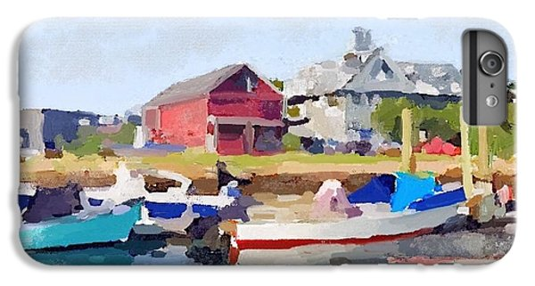 North Shore Art Association At Pirates Lane On Reed's Wharf From Beacon Marine Basin IPhone 7 Plus Case by Melissa Abbott