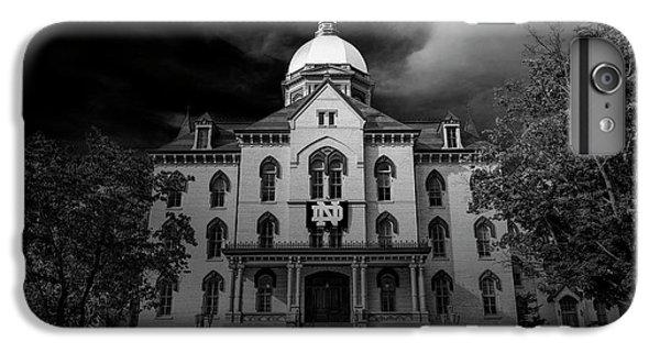 Notre Dame University Black White 3a IPhone 7 Plus Case by David Haskett