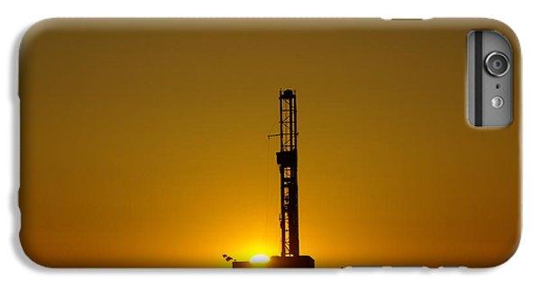 Killdeer iPhone 7 Plus Case - Oil Rig Near Killdeer In The Morn by Jeff Swan