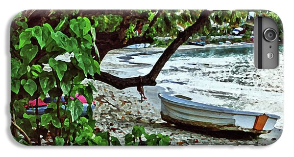 Shrimp Boats iPhone 7 Plus Case - Old Boat On The Beach by Michael Thomas