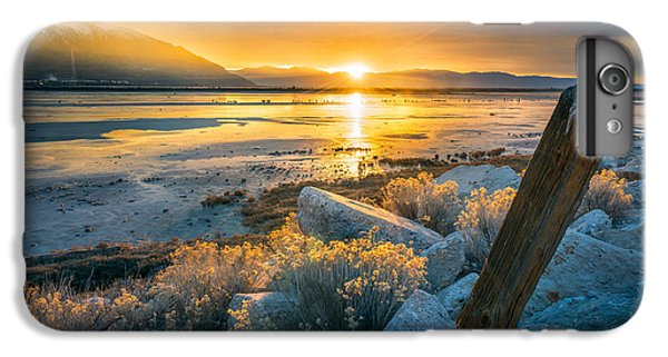 City Sunset iPhone 7 Plus Case - Old Post At The Great Salt Lake by James Udall
