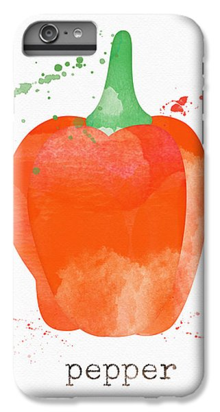 Rural Scenes iPhone 7 Plus Case - Orange Bell Pepper  by Linda Woods